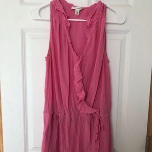 Banana Republic pink sundress/cover-up